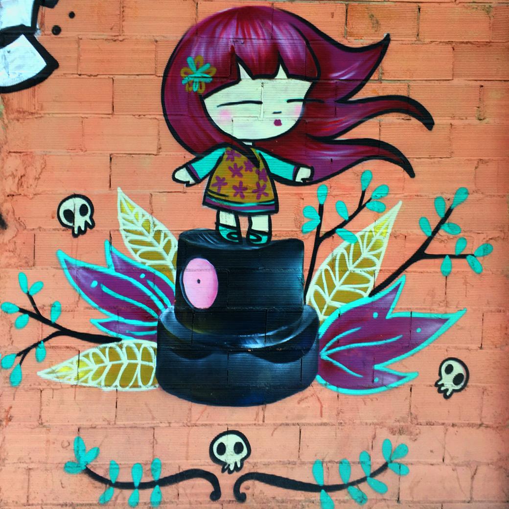 In den Straßen von Valencia gibt´s viel zu sehen! Street art at it's best.