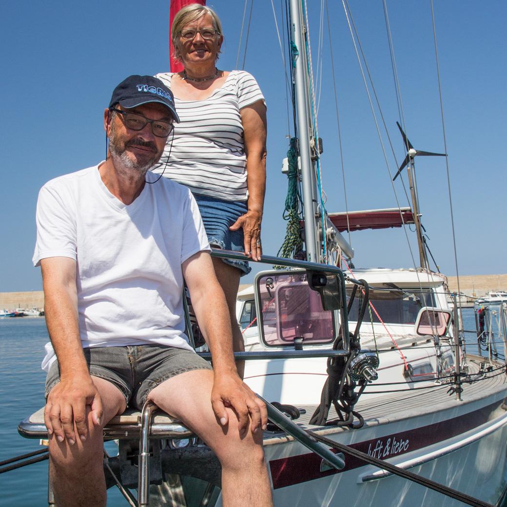 Christa und Hartmut, Segelyacht Luft&Liebe