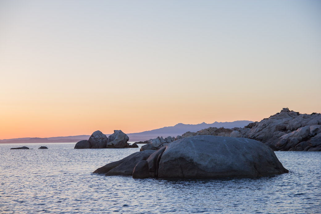 Sonnenuntergang auf den Maddalenas