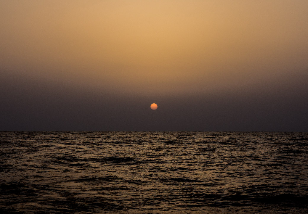 Sonnenuntergang, Segeln, Nachtfahrt, Sardinien, Sizilien