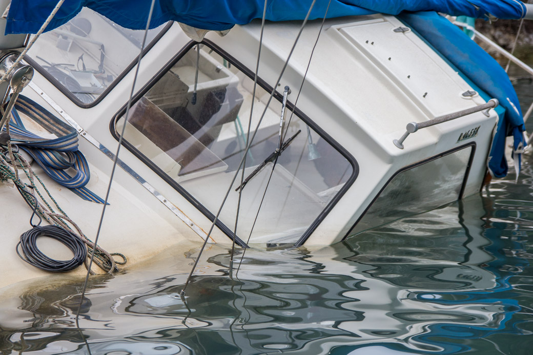 Tranquil Bay Nidri gesunkenes Boot