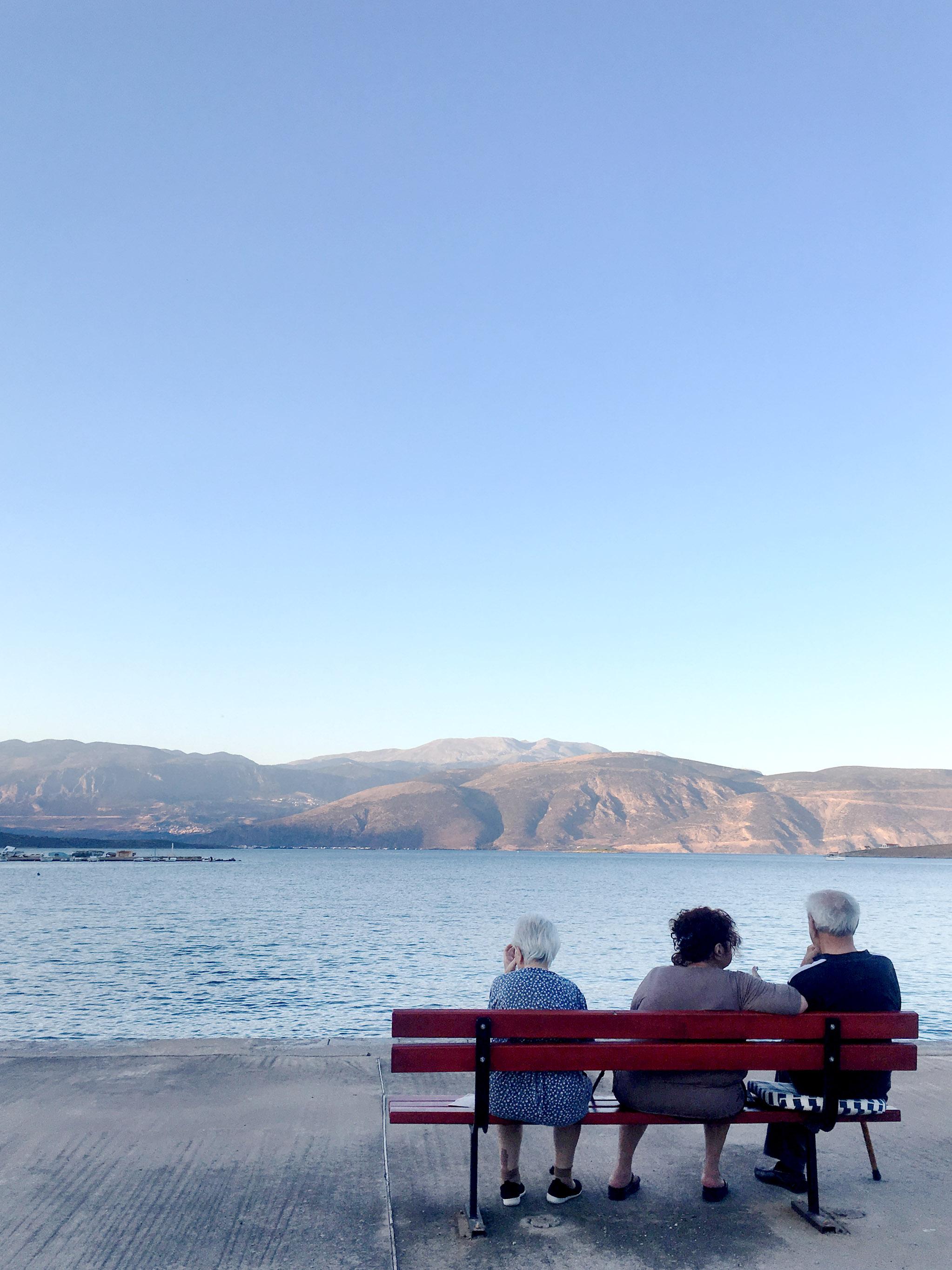 In Galaxidi trifft man sich zum Sundowner an der Pier